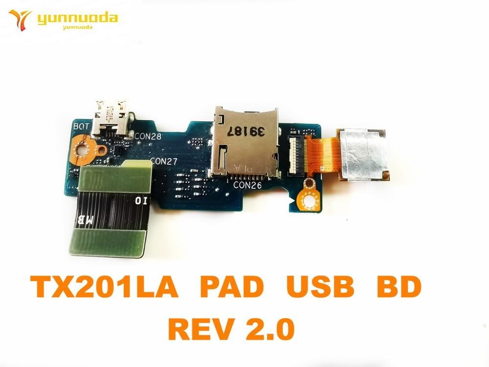 لوحة USB أصلية لـ ASUS TX201LA ، لوحة USB TX201LA ، تم اختبارها 2.0 ، شحن مجاني جيد