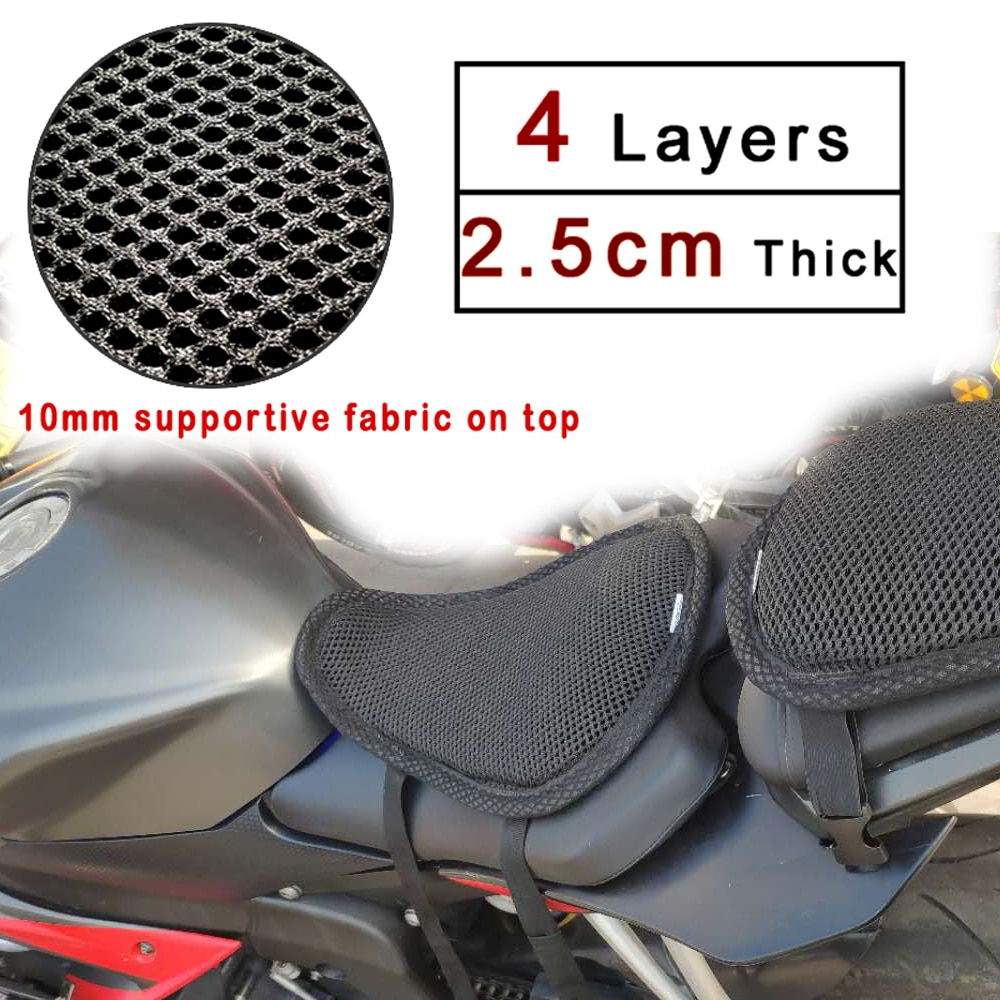 REESSOR universal Motorcycle seat cushion,summer cooling sun protection travel bikes Heightening and thickening Seat Cover