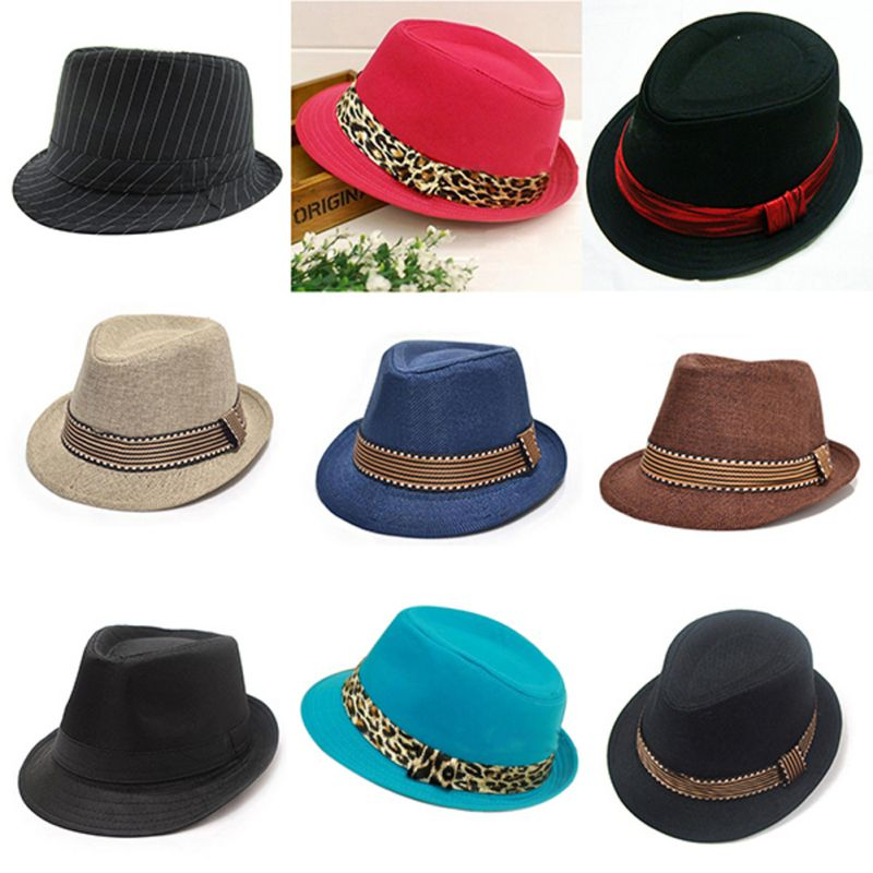 Niños Caballero 2-6Y sombrero nuevo sombrero de paja sombrero de cubo Jazz sombreros de Sol de Color sólido niños Panamá niñas fotografía