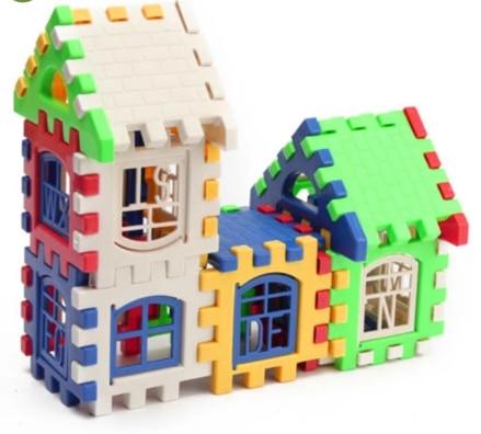 24 шт Строительные блоки детский домик строительные блоки Развивающие игрушки набор 3D кирпичи игрушки строительного кирпича