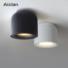 Aisilan superfície montada downlight led cob luz de ponto para sala de estar, quarto, cozinha, banheiro, corredor, ac 90 v-260 v