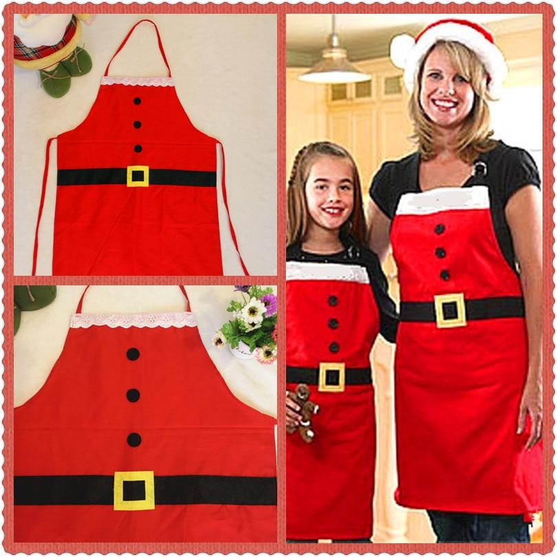 1PC Apron Christmas Decoration Kitchen Apron Dinner Santa Kitchen Apron Home Garden Household Merchandises QA 264