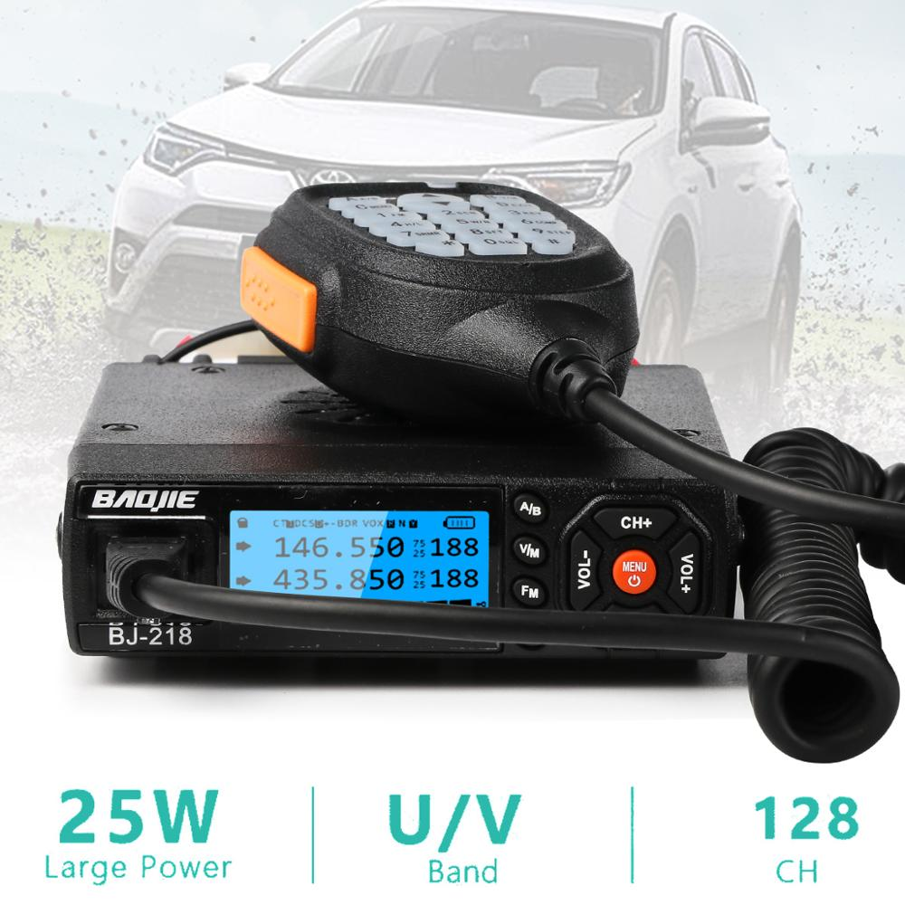 BJ-218 Mini Mobile Radio Car Radio FM Transceiver 25W VHF UHF BJ218 Vericle Car Ham Radio Dual Band Walkie Talkie Device enlarge