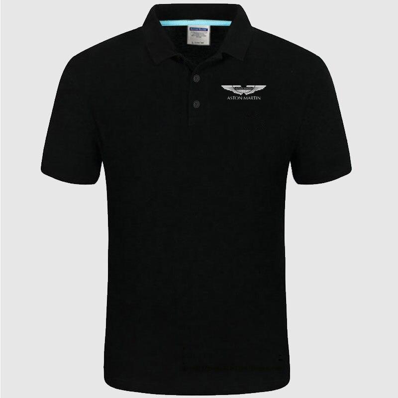 Mens Polo Shirts Men Aston Martin Brands Polo Shirts Printed Mens Polo Shirt Plus Size S-3XL