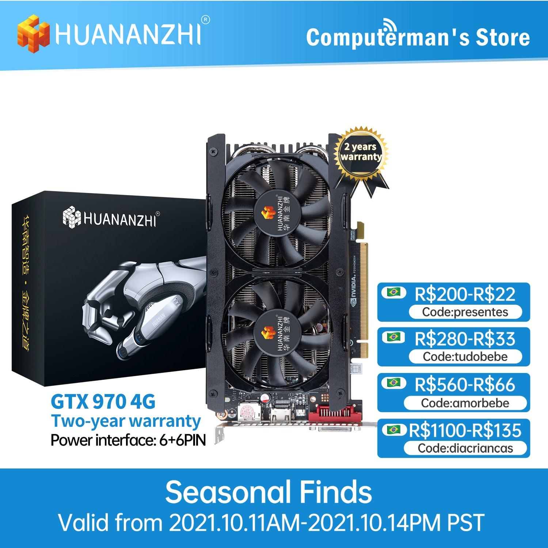 [해외] HUANANZHI 그래픽 카드 GTX 650 750 TI 2GB 960 970 4G 1050 TI 4GB GTX 1660 SUPER 1660 S RTX 2060 6GB RX560