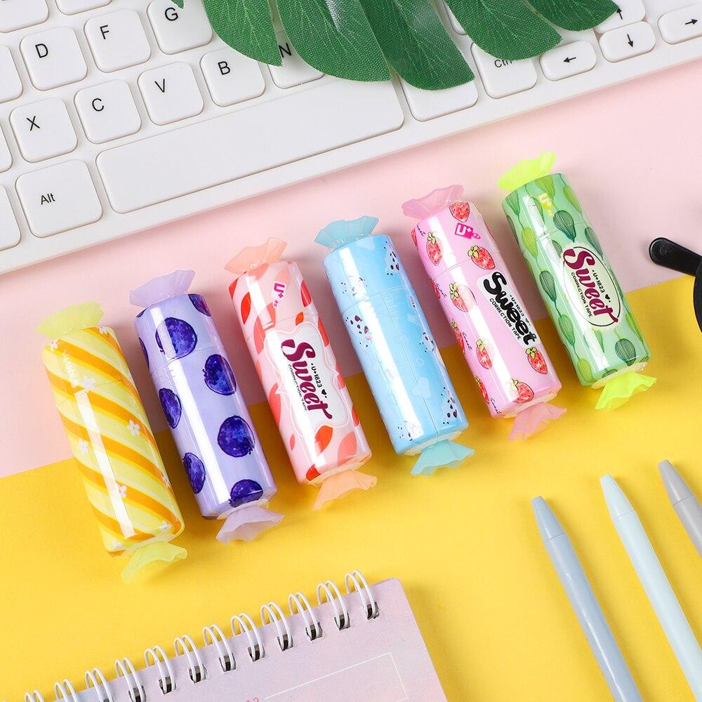 JIANWU 6pcs/set 5mmX5m Cute Candy Style Correction tape kawaii Student alteration tape School supplies