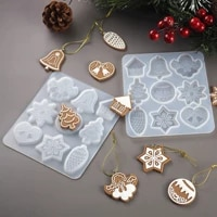 diy crystal epoxy mold christmas tree snowflake elk pendant keychain listing jewelry silicone molds set wholesale drop shipping
