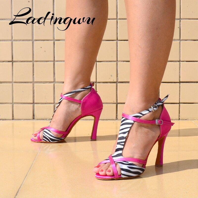 Sapato feminino ladingwu, sapato para dança salsa latina sapatos para meninas profissionais