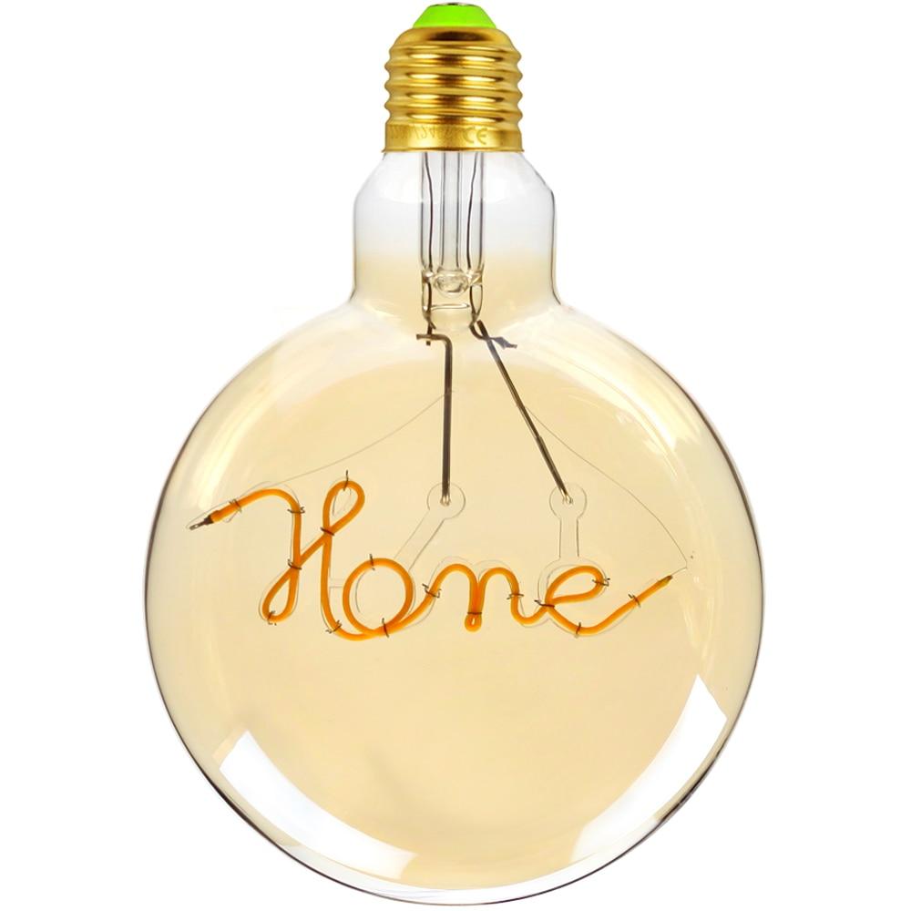 TIANFAN Led Bulb Vintage Light Bulb G125 Round Alphabet Home Led 4W Non Dimmable Pendant Hanging Decorative Bulb 110V 220V