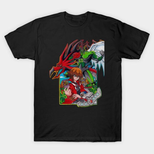 Camiseta para hombre Yugioh camiseta de héroe para mujer