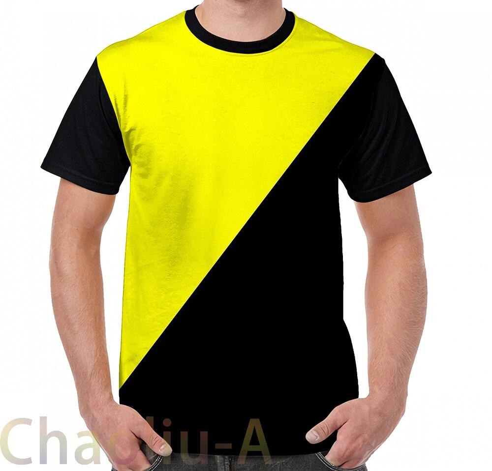 Anarco-Capitalista Da Bandeira-Libertário T-Shirt dos homens engraçados t imprimiram a camisa mulheres tops camisetas de Manga Curta camisetas Casuais