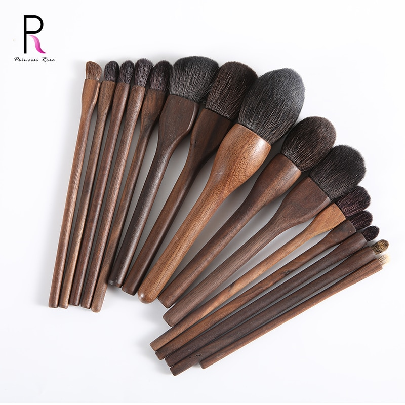 High quality single brush mountain wool wooden handle soft foundation brush professional makeup kit Набор кистей для макияжа
