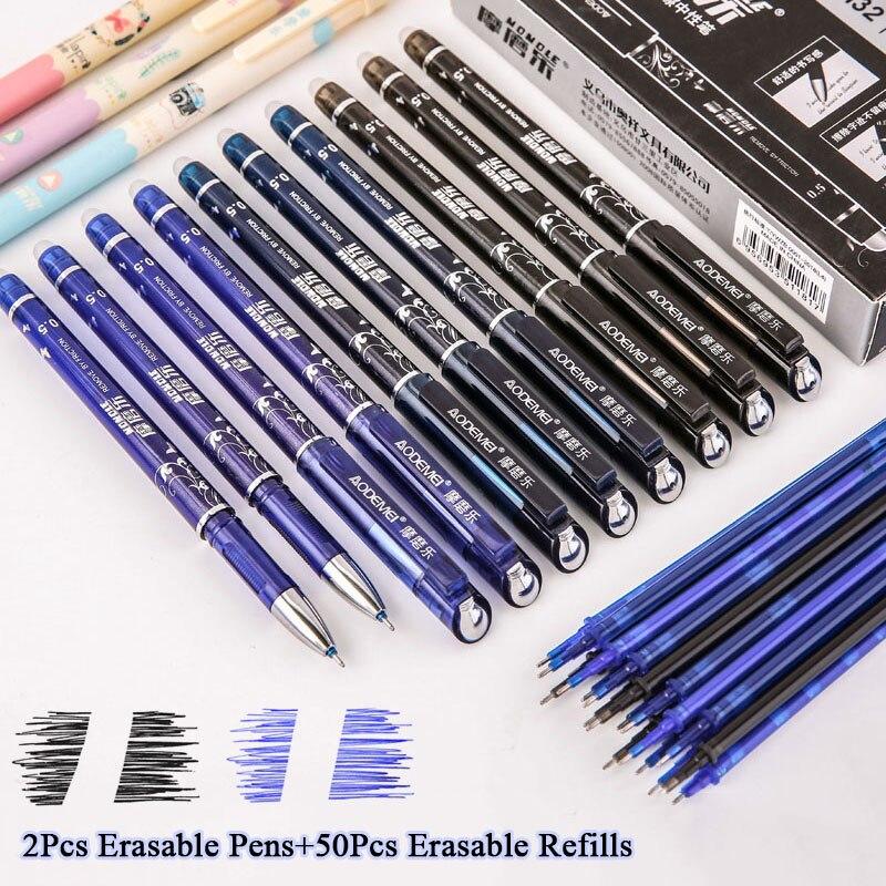 2-50-pz-set-blu-nero-rosso-inchiostro-della-penna-cancellabile-05-millimetri-ricariche-gel-penne-per-i-bambini-delle-ragazze-regali-di-scuola-forniture-per-ufficio-di-cancelleria