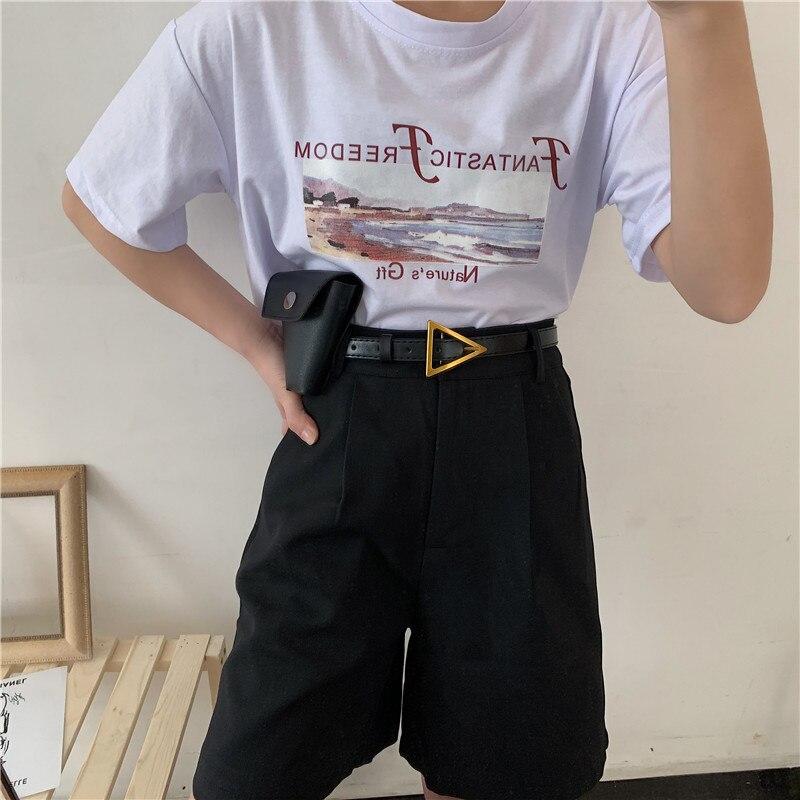 Triangle Buckle Women's Bag Decoration Retro Jeans Belt Fine Suit Jacket Waist Seal Fashion