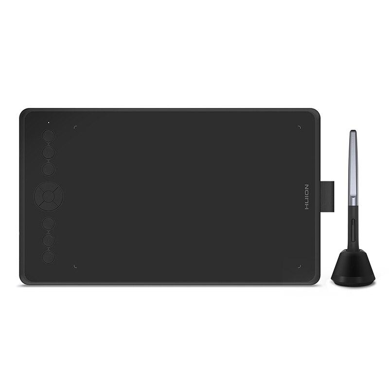 Huion negro H320M gráfico tableta de dibujo y LCD tablero digital de escritura Tablet con la batería-Stylus gratis para Android/PC