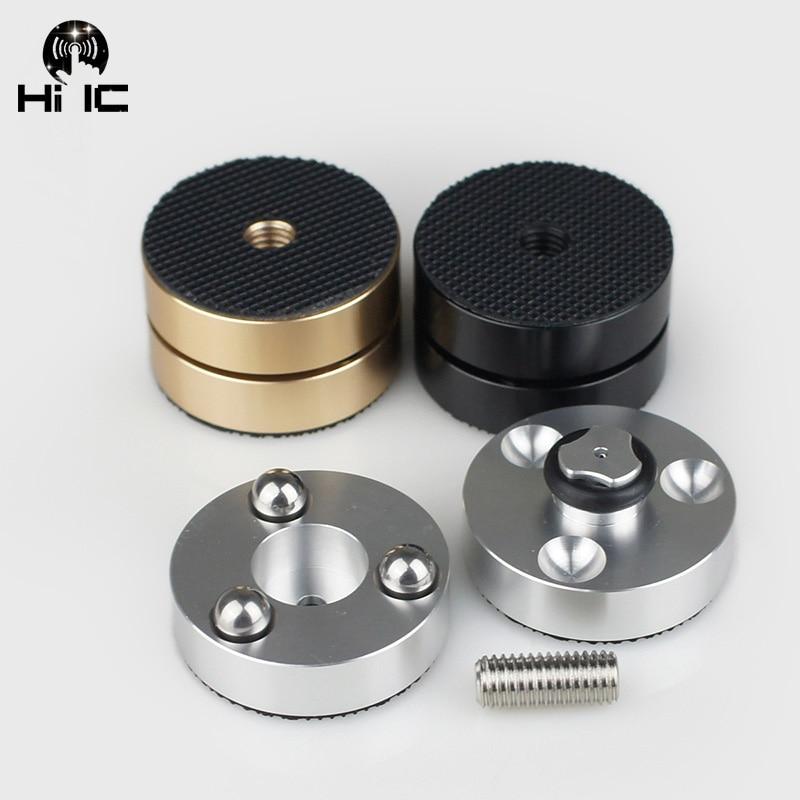 Mais recente alta fidelidade alto-falantes de áudio amplificador cd player bola de aço anti-amortecedor pé pés almofadas absorção de vibração estandes picos