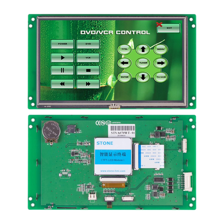 7 pulgadas inteligente pantalla TFT LCD Panel de pantalla táctil para sistema integrado