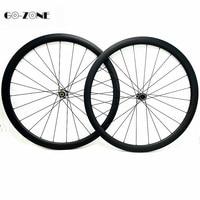 700c wheelset 38x23mm Clincher or Tubular Powerway CT31 Centerlock 100x12 142x12 road bike disc carbon wheels pillar 1423 spokes
