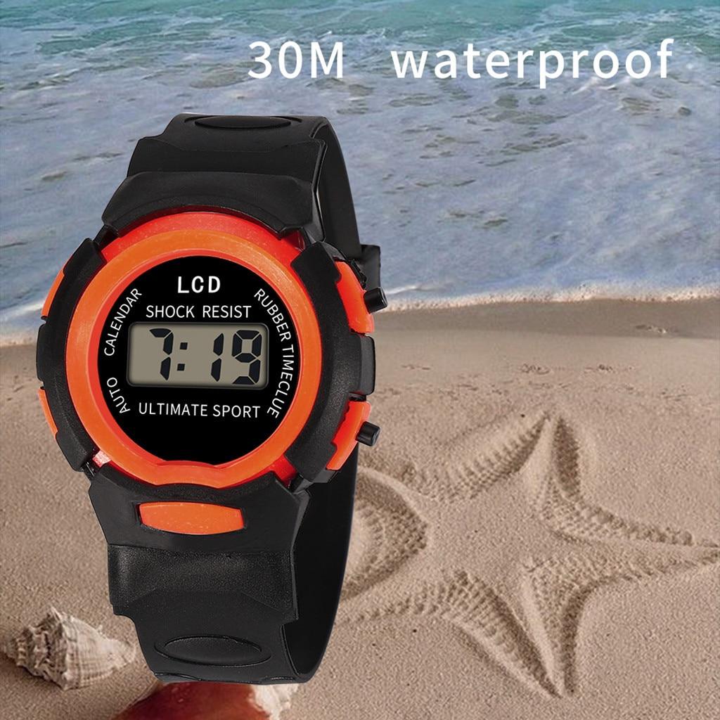Kid Casual Watches Children Girls Analog Digital Sport LED Electronic Waterproof Wrist Watch Electro
