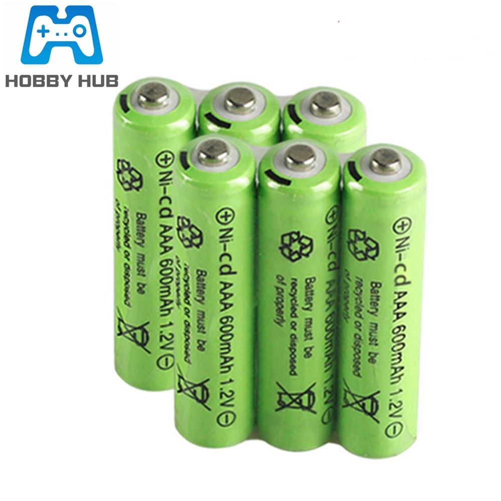 Ni-Cd 600mAh 1.2V Battery 3A Neutral Battery 500 Times Charging For RC Car Flashlight Toys Electroni