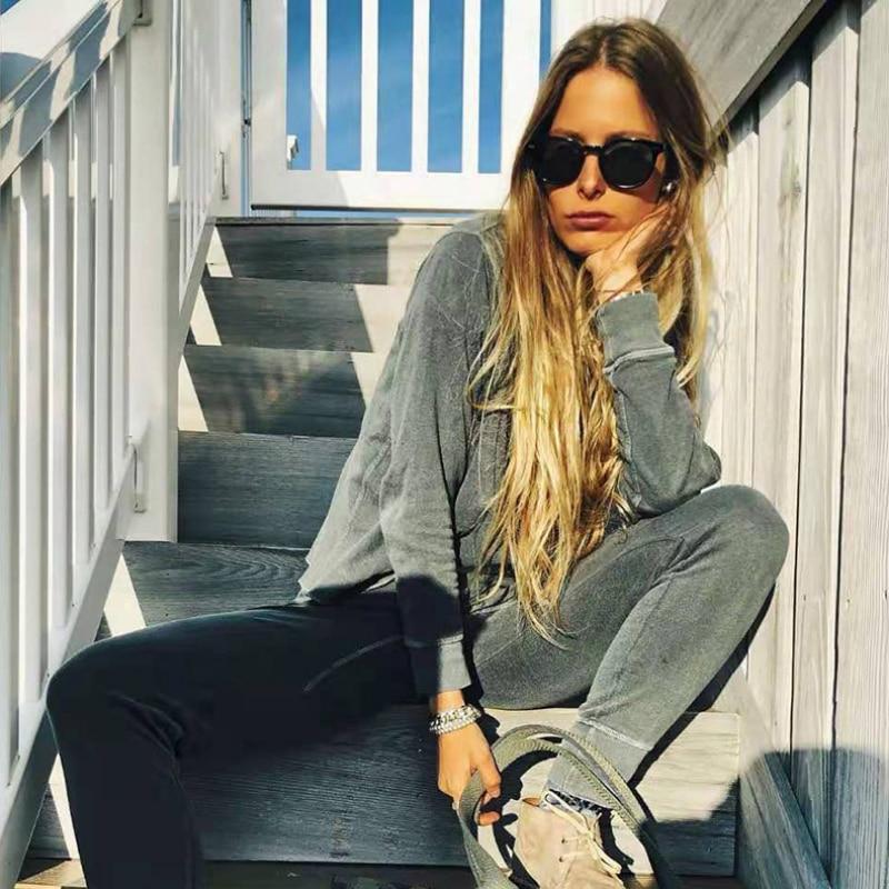 OLOEY Retro Rice Nail Sunglasses Women Fashion Round Ocean Water Lens Brand Designer Eyewear Trendy
