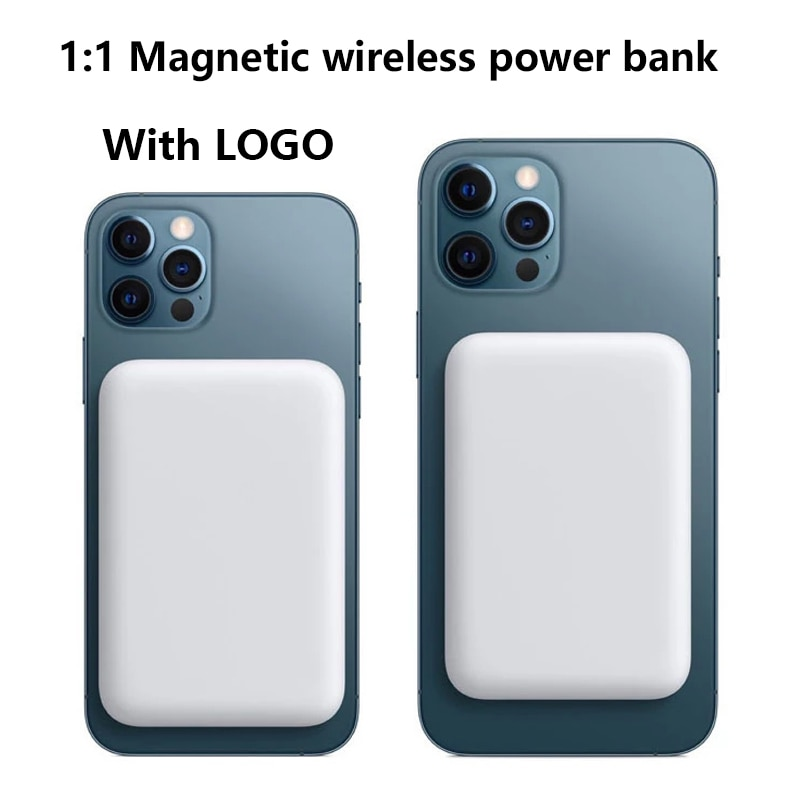 1:1 5000mAh المحمولة المغناطيسي لاسلكي قوة البنك الهاتف المحمول بطارية خارجية آيفون 13 12 13Pro 12Pro ماكس باور بانك صغير