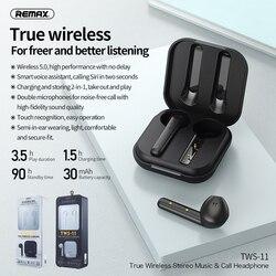 Remax bluetooth fone de ouvido bluetooth v5.0 toque operar tws verdadeiro dupla sem fio fones baixo som para huawei iphone xiaomi