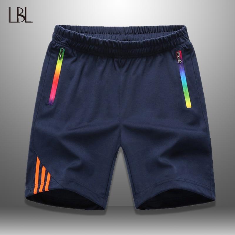 LBL полосатые шорты для мужчин, летняя мужская спортивная одежда, повседневные мужские шорты на молнии с карманом, дышащие мужские короткие б...