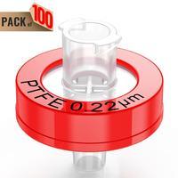 Syringe Filters,PTFE Membrane 0.22μm Pore Size,13mm Diameter,100 Pcs by Ks-Tek
