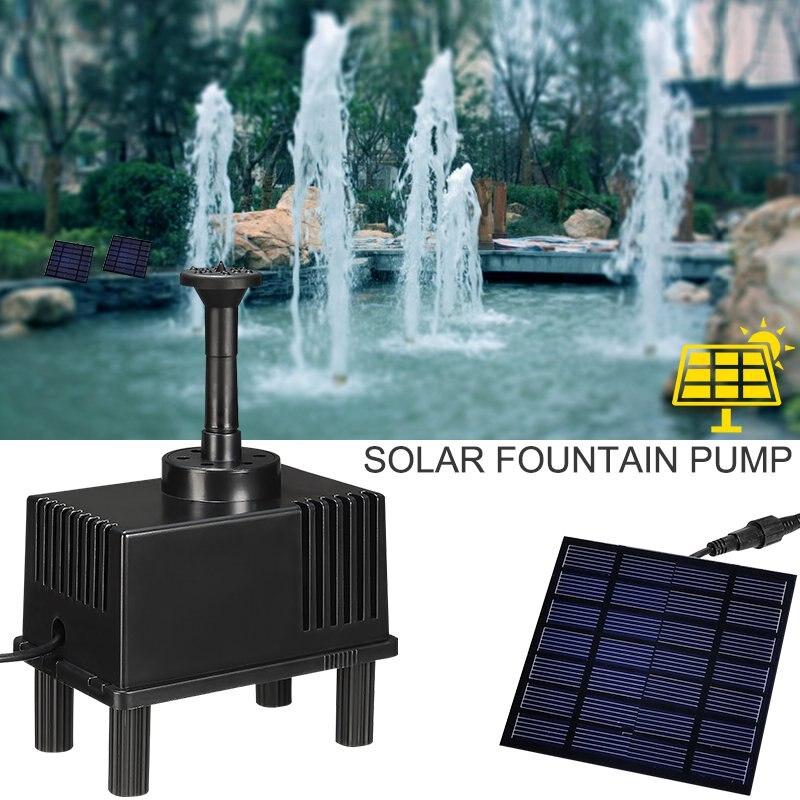 Kit de bomba de Fuente Solar 180L/H de pie libre 1,5 W bomba de agua de Panel Solar para jardín y Patio con filtro de esponja Envío Directo