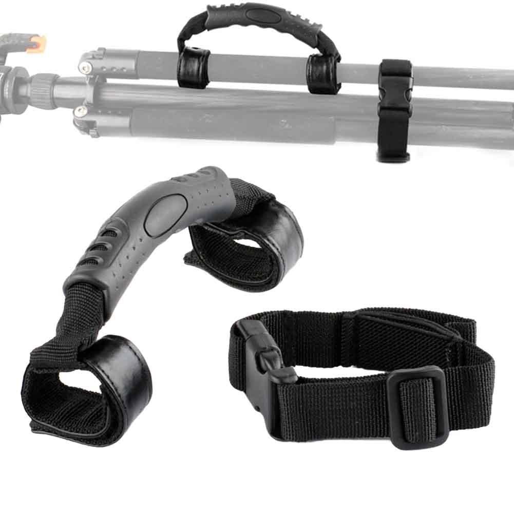 Soporte de transporte de trípode monopié soporte de Nylon con correa de hebilla agarre de mano accesorios de cámara portátil para Benro