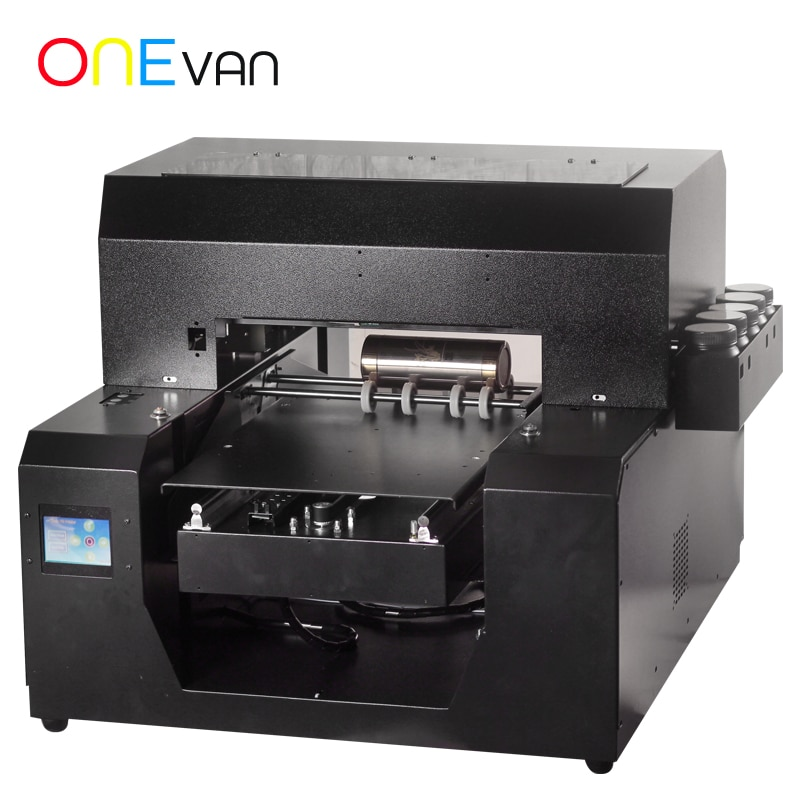 ONEVAN.6 colores, impresora UV A3 para bricolaje, caja de teléfono con impresión personalizada, señales de Metal de cristal, caja de regalo, automática, instantánea en seco