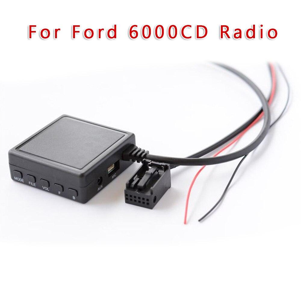 Para Ford 6000CD Radio Bluetooth música adaptador reemplazo AUX USB Audio