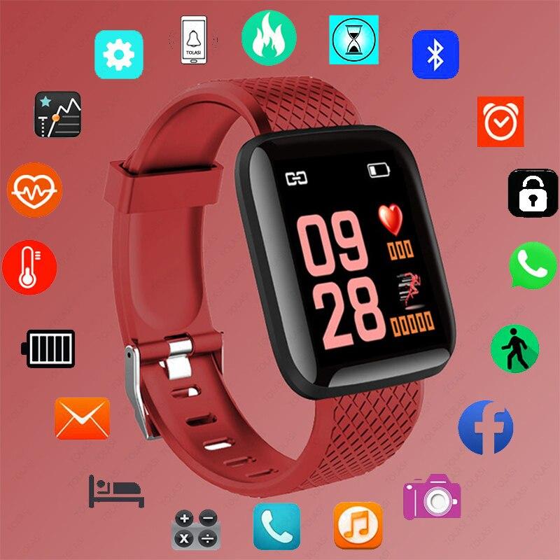 Цифровые умные спортивные часы D13, женские часы, цифровые светодиодные электронные наручные часы, Bluetooth фитнес-часы, мужские и детские часы ...