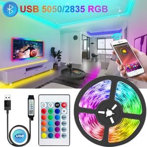 WIFI Bluetooth USB Led Strips Lights RGB 5050/2835 Led Lighting Lamp Light Phone APP Control For TikTok Light TV BackLight Party