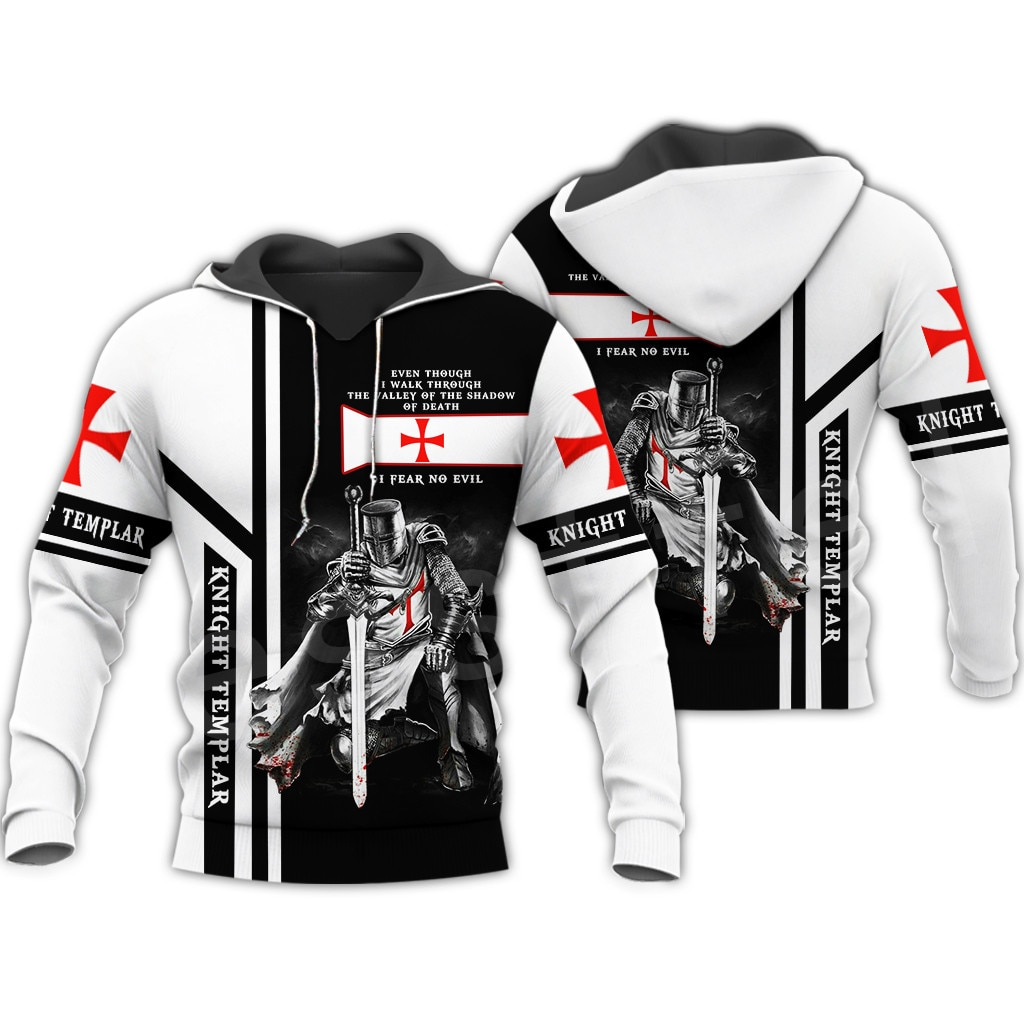 Tessffel cavaleiro templar armadura pulôver streetwear harajuku engraçado agasalho 3dprint zip hoodies/moletom/jaqueta homem/mulher