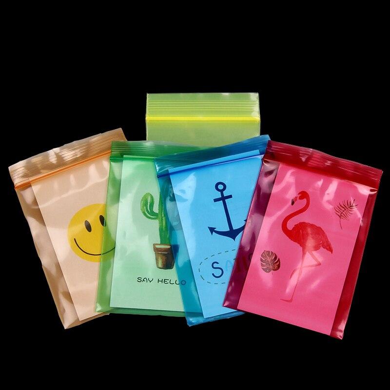 Rojo azul verde amarillo, naranja cierre de cremallera bolsa pequeña de plástico paquete tienda alimentos joyería accesorios semilla moneda anillo cápsula tarjeta