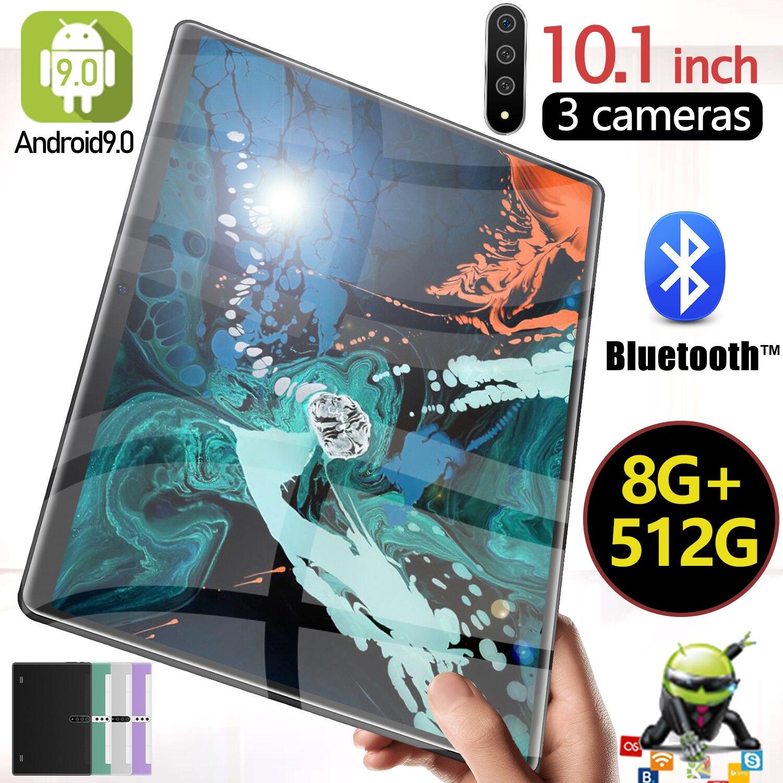 جديد X102 10.1 بوصة الكمبيوتر اللوحي 5G واي فاي 4G LTE 10 Core 8GB + 512GB أندرويد 9.0 Type-C أقراص 8800mAh بطارية سوبر تهمة HD + اللوحي