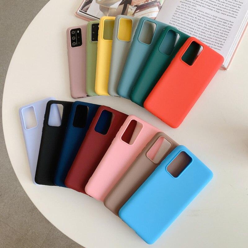 Matte Caixa Do Telefone Para Samsung Galaxy A10 A10E A20 A20E A30 A40 A50 A51 A60 A70 A71 A80 A90 M10 M20 Caso Capa Capa de Silicone Macio