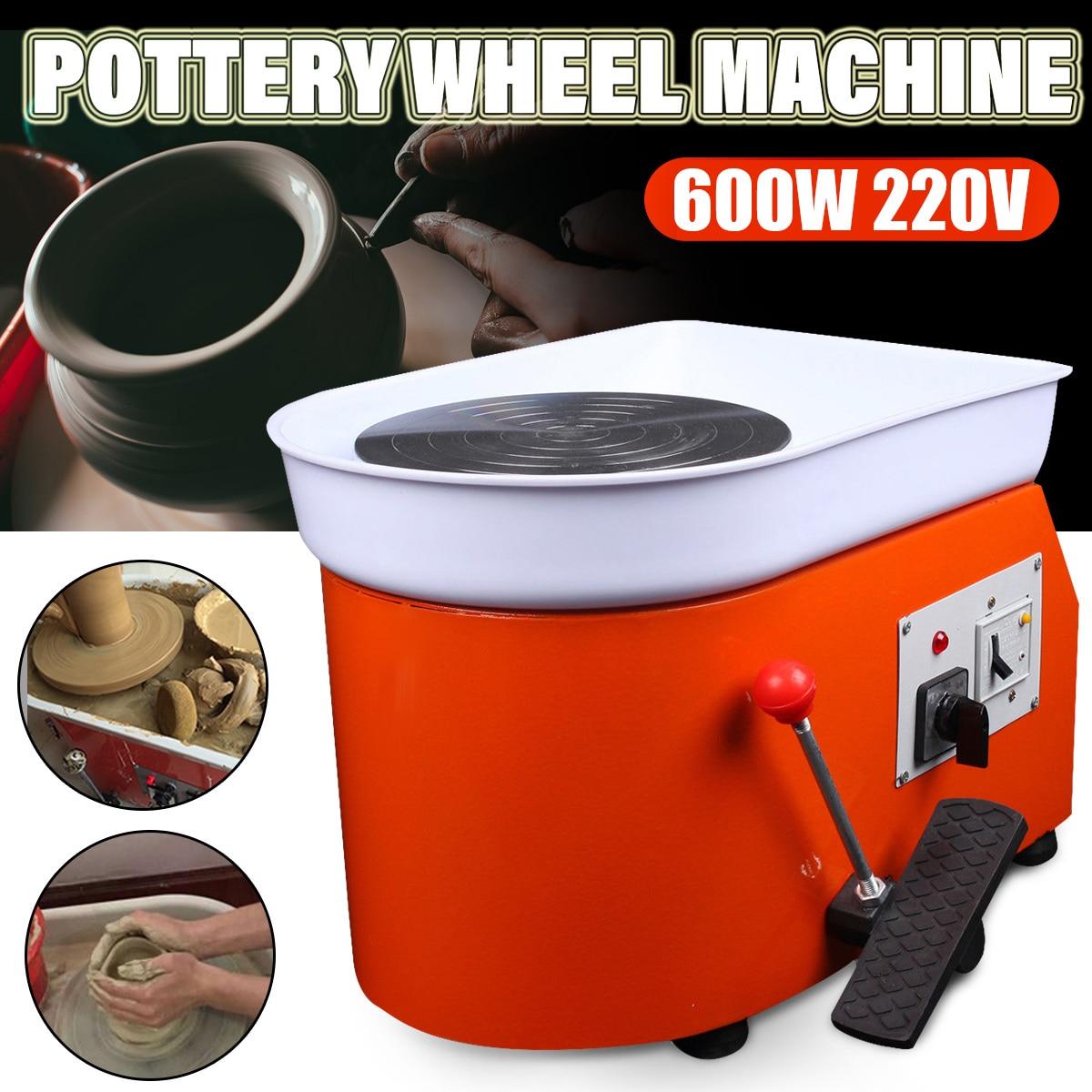 عجلة فخار سيراميك ، 220 فولت ، أداة تشكيل ، حوض قابل للغسل ، تحكم بدواسة ، تحول ، عجلة فخار كهربائية ، آلة سيراميك