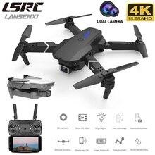 Lansenxi novo rc drone e525wifi fpv e grande angular de alta definição 4k dupla altura da câmera manter dobrável quadrotor zangão presente brinquedo