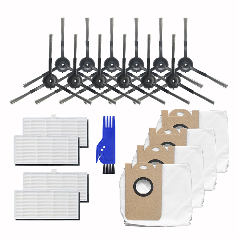 21Pcs Robot Side Brush Dust Bag Hepa Filter for Proscenic M7 Robot Vacuum Cleaner Parts Accessories Replacement Kit
