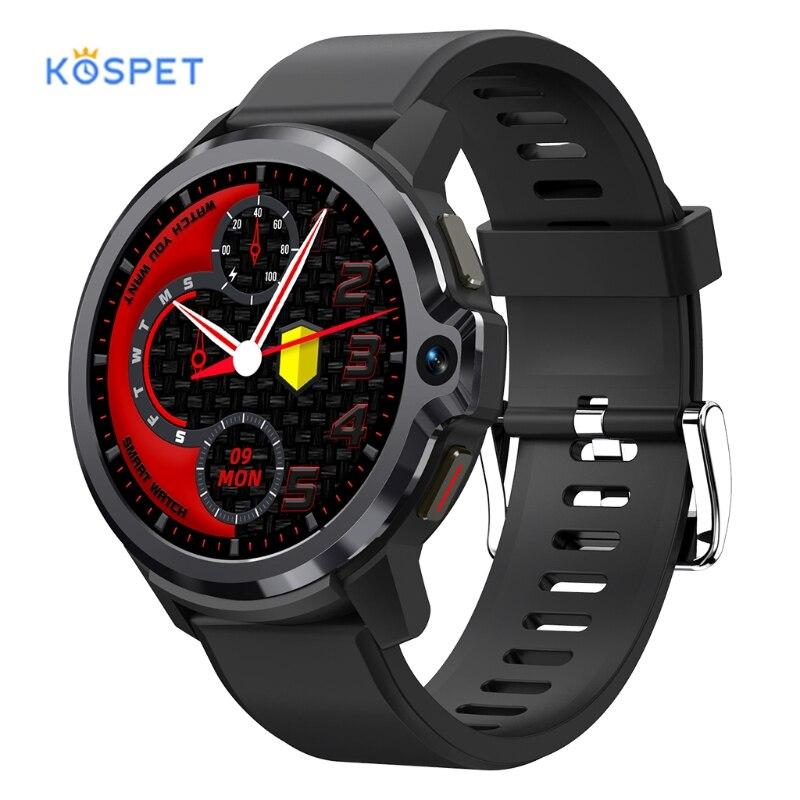 ساعة يد ذكية من KOSPET PRIME S-ساعة يد ذكية 2021 ساعة ذكية ، شاشة مزدوجة ، بلوتوث ، نظام تحديد المواقع ، 4G ، أندرويد ، مقاومة