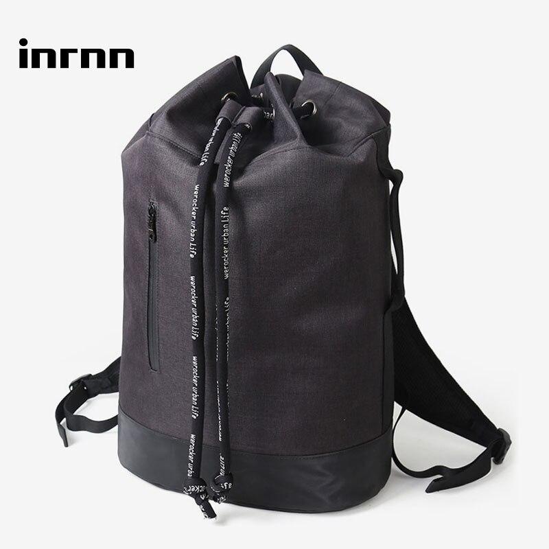 Inrnn-حقيبة ظهر رياضية للرجال ، حقيبة ظهر رياضية خارجية للمراهقين ، دلو كرة سلة برباط ، حقيبة سفر كبيرة السعة