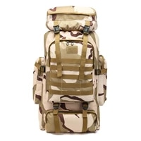 factory direct sales 70l tactical outdoor camouflage bag tactical shoulder to shoulder male super large capacity mountain ba