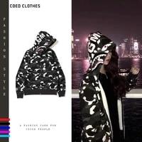 a bathing ape original hoodies sweatshirts shark coat loose tide brand