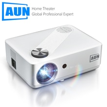 AUN Full HD Projector AKEY8 Android 9 Video Projector 4K Decode Home Theater TV Beamer Beam LED Proj