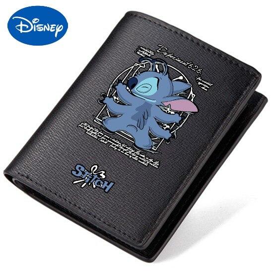 Original Disney interestelar bebé Stitch periférico lindo dibujos animados adolescente estudiante billetera niños y niñas cortos