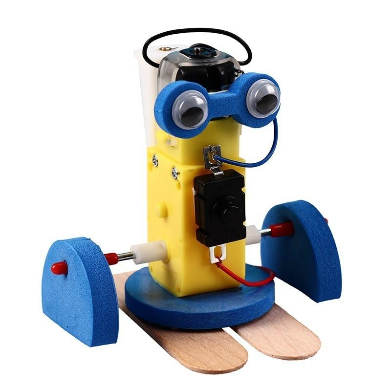 DIY Robot eléctrico para caminar Kits de modelo niños Escuela de vapor enseñanza estudiantes experimentos juguetes Juguetes Educativos de Ciencia para Niños