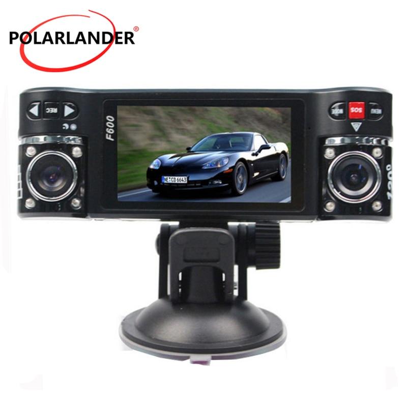 Видеорегистратор F600 с двумя объективами 1080P, 2,7 дюйма, ЖК-дисплей, двойная камера с ночным видением, HD DVR, Автомобильный видеорегистратор с вр...